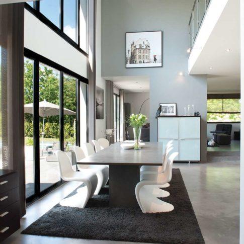 intérieur contemporain salle à manger design