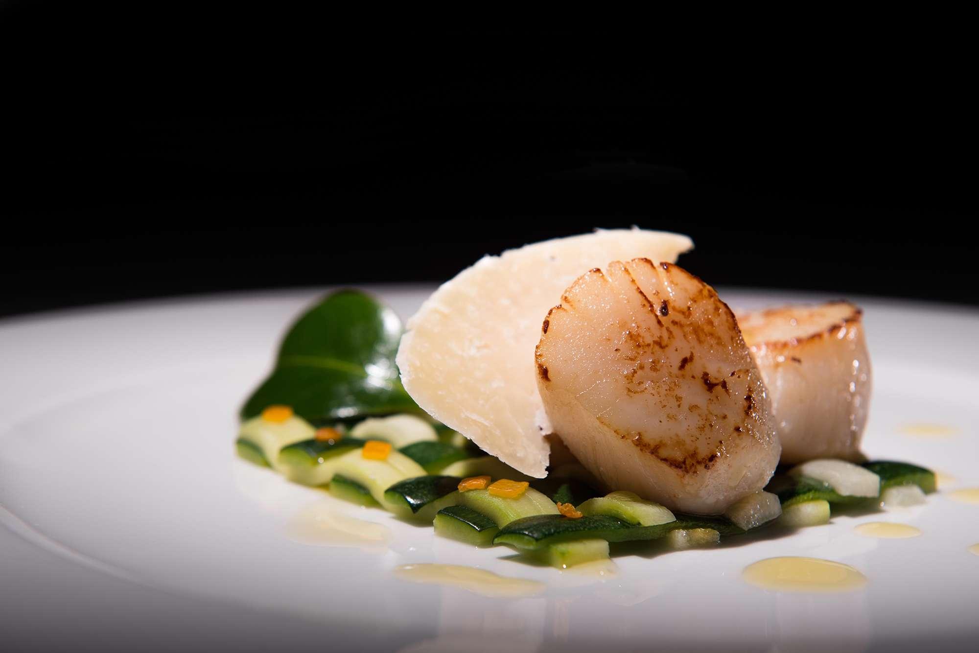 noix de saint jacques restaurant guide michelin bretagne photographe