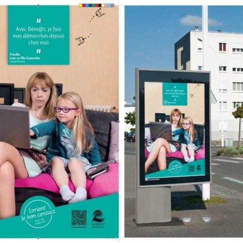 photographe campagne publicitaire panneau rue Lorien