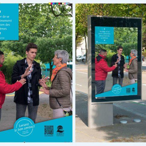 photographe-pubicitaire-communication affiche rue commerce lorient vannes 56 morbihan