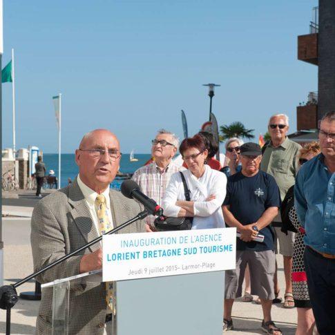 photographe événementiel maire de larmor-plage inauguration office du tourisme le pochat
