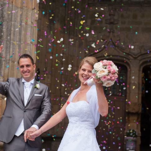 photographe hennebont Mariage sortie église