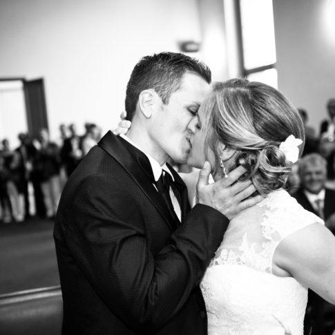 Photographe mariage maire de Lorient noir et blanc