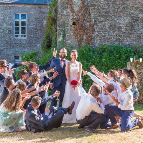 Mariage photo de groupe Vannes