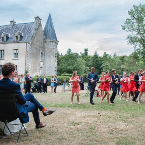photographe mariage chateau de Trédion