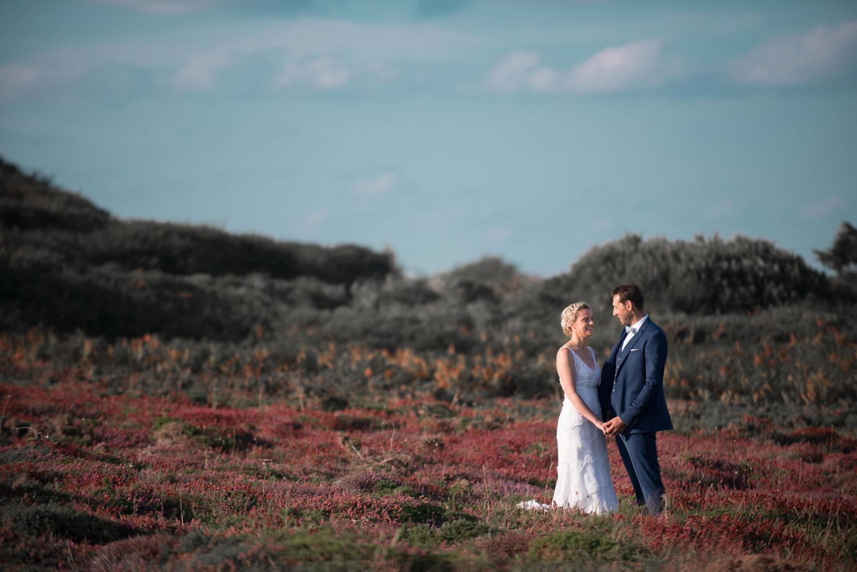 Photo mariage couple landes bruyère Bretagne