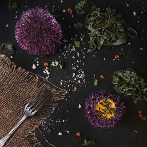 oursins et pâtes restaurant breton photographie culinaire