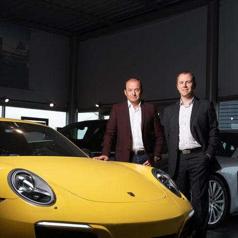 Photographe portrait entreprise rennes lorient vannes concession Porsche rennes