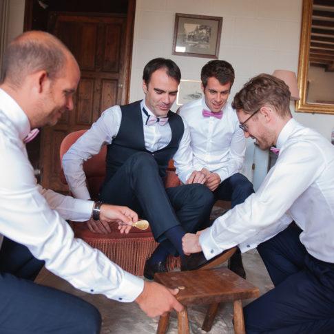 Préparatifs mariage château de bothané